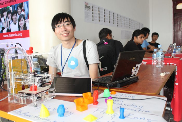 3D Print Maker Community from Hong Kong at Open Source Conference FOSSASIA 2015, Phnom Penh